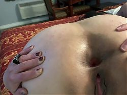 Sherry Gapes Her Asshole for Me to Tongue Fuck Her